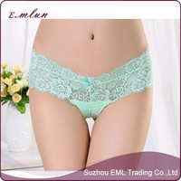 Export lady underwear T-back wholesale lace underwear sexy low-waist transparent underwear