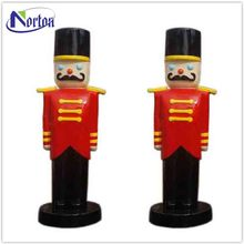 Christmas Ornament indoor life size fiberglass nutcracker soldier NT-FS255B
