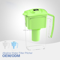 2.5L alkaline water filter pitcher, water ionizer pitcher with filter, BPA free