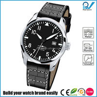10 ATM water-resistant stainless steel case watch japan automatic movement Sapphire glass with double genuine leather