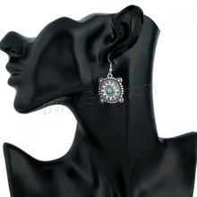 New fashion design Zinc Alloy Earring Synthetic Turquoise Drop Earrings
