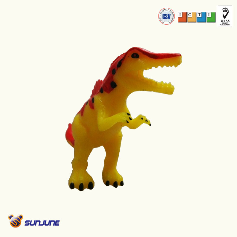 plastic kids squeezable dinasour toy made in china
