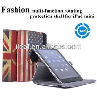 Stylish 360 Degree Rotating multi-function rotating protection shell for iPad mini