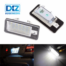 DXZ White 12V Car LED License Plate Light Bulbs for Audi A3 S3 S4 A4 B6 B7 A6 A8 Q7