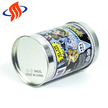 cartoon sex printing cansmetal coffee round tin plate box roasting cans with lid