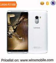 Original lenovo K4 note 5.5 inch 3GB 64GB 4 sim card android 2016 mobile phones