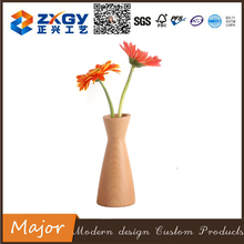 Handmade Decorative Shape Modern Wood Vase For Hydroponics Flower