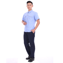 65% polyester 35%cotton short sleeve work shirt