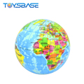 2018 New Products Children Learning Geography Knowledge Globe Toy 5 Inch Pu Ball