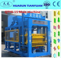 Shandong Hongfa QT 8-15 fully automatic fly ash brick making machine,diesel engine block and brick making machine