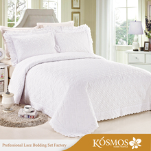 Nantong Factory lace quilted waffle bed cover