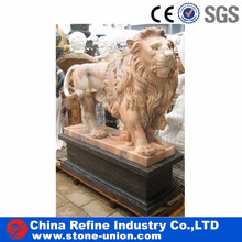 Customized Natural Stone Lion Animal Statue