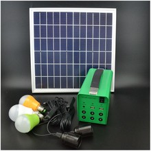 China supplier low cost 18v 15w solar system kits for home