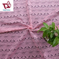 Factory direct polyester cord lace fabric, fashion french jacquard knitted lace wholesale