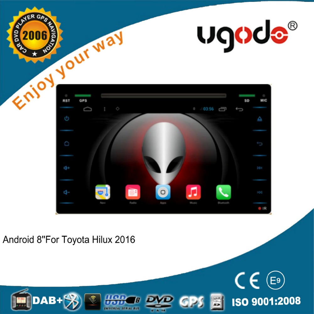 For Toyota Hilux 2016 android 4.4. quad core car gps navigation multimedia system