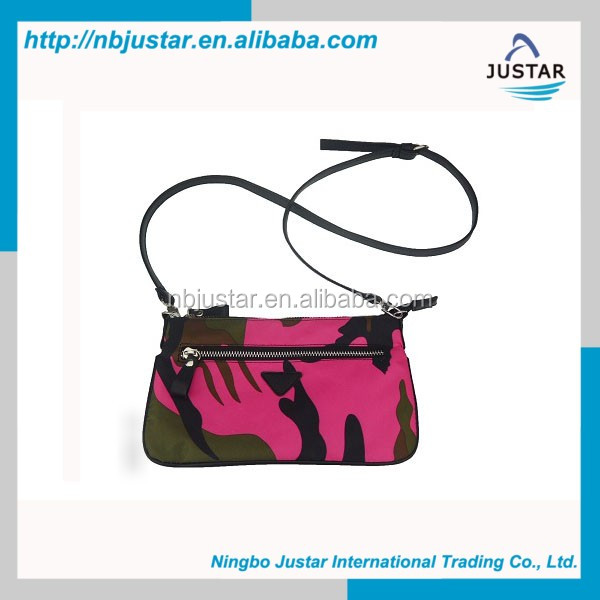 Alibaba China New Products 2016 Stylish Nylon Camouflage Shoulder Lady Bags for Women