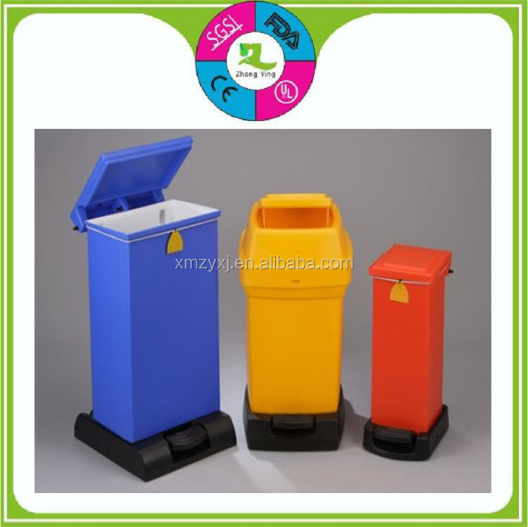 manufacture outdoor large crash can rotomolding plastic waste bin with lid