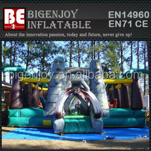 Outdoor Inflatable Jurassic Adventure Amusement Part