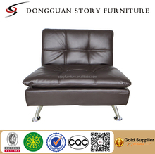 European classic wooden folding sofa cum bed designs living room PU sofa bed