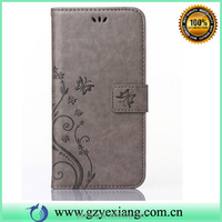 Wholesale alibaba embossed style phone case wallet pouch flip cover for iphone 5 leather stand case with card slots