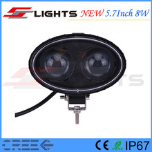 New IP67 Forklift 4*4 Ellipse Cree 8W LED Tuning Warning Blue Light