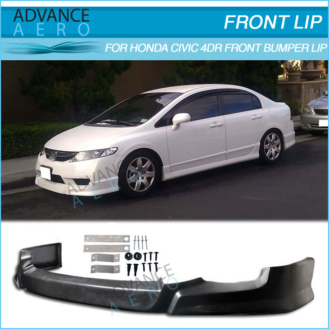 FOR 2009 2010 2011 HONDA CIVIC 4DR HFP STYLE FRONT LIP SPOILER PU BODY KIT