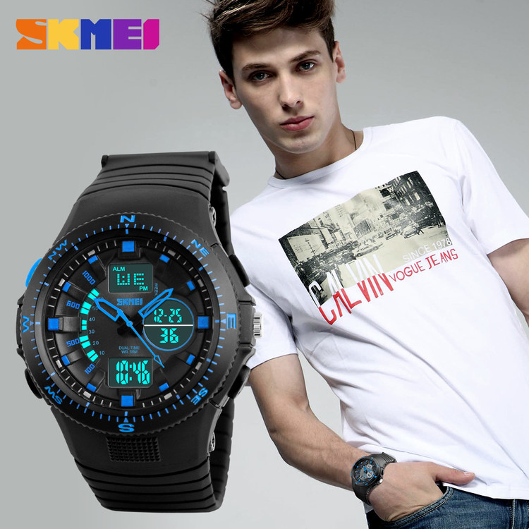 New fashion multi time zone couple sport watch