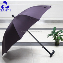 Guangzhou nuevo <span class=keywords><strong>producto</strong></span> poliester pongis walking stick pc lluvia paraguas