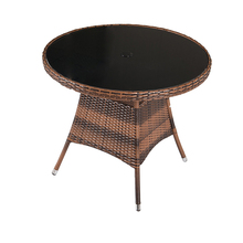 New style round table and chair set rattan dining set wicker