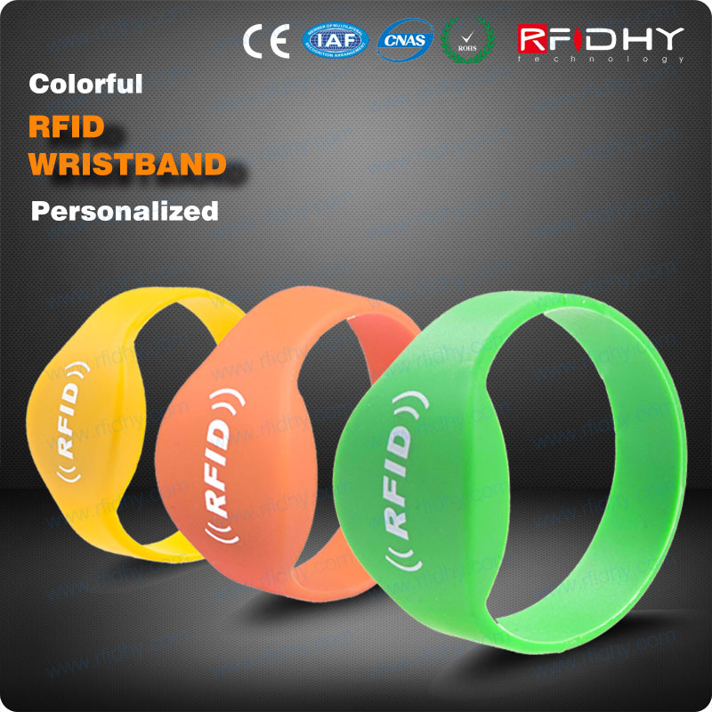 with a locking snap for maximum security rfid wristband