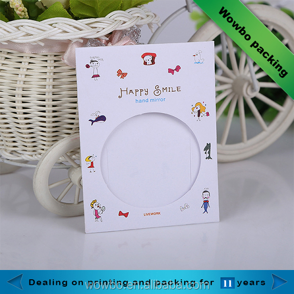 Mirror CD packaging pouch mini paper bag with circle clear window