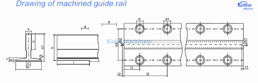 Hollow guide rail TK5A and TK3A for small lift