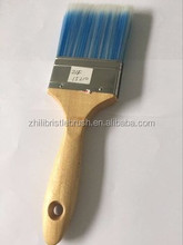 PET/PBT/PP material Synthetic bristle paint brush with wood handle