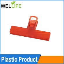 Plastic paper clip with interlocking system- clips to be locked together, option with magnet