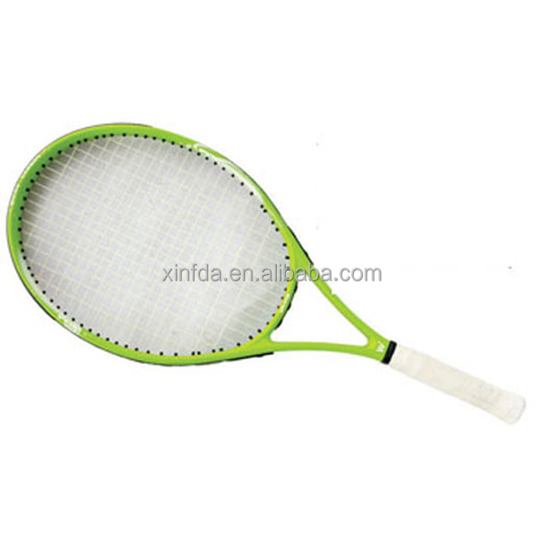 "27"" high quality cheap head aluminum tennis racket graphite one piece tennis racket"