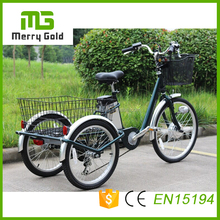 green power Steel frame cheap adult three wheel electric tricycle for cargo