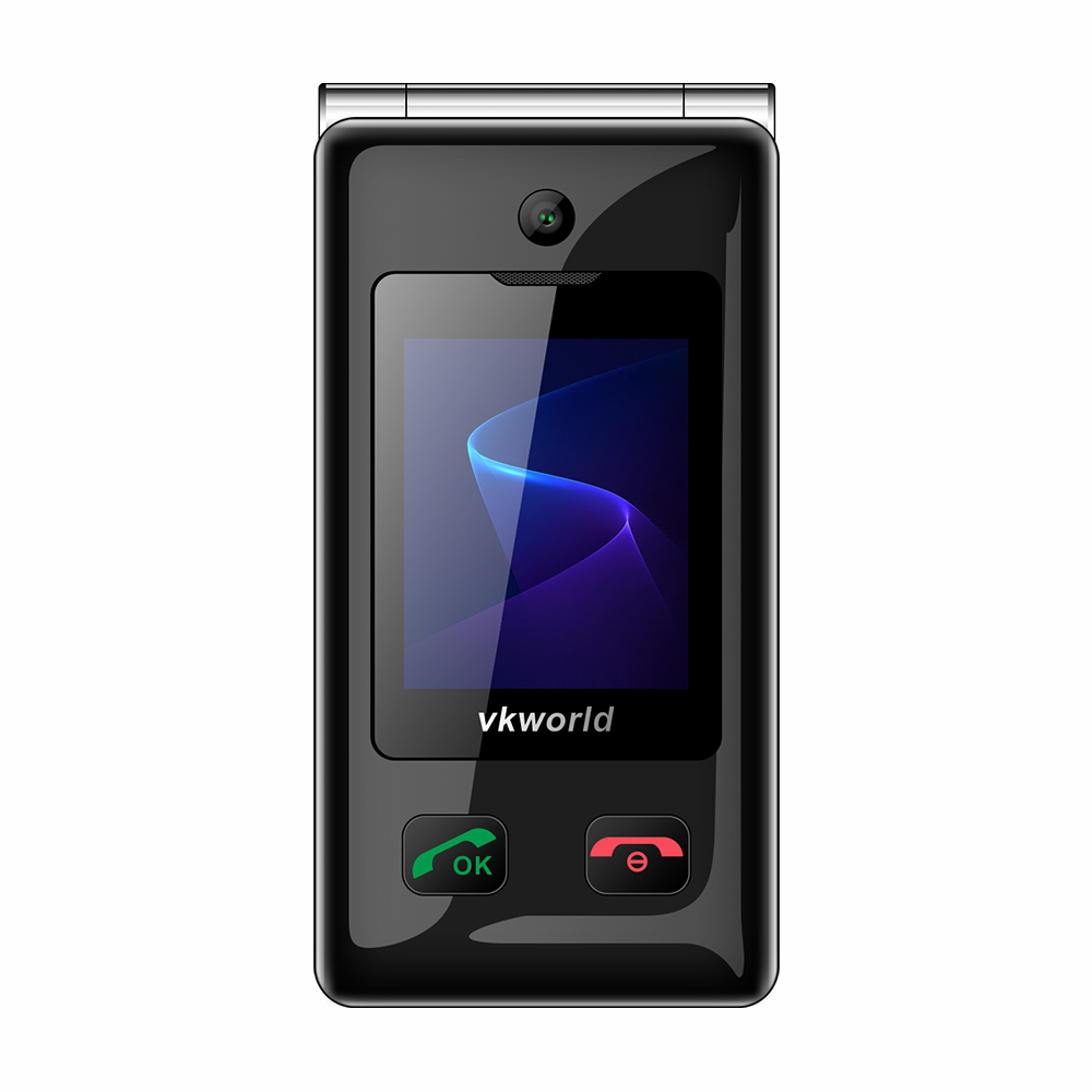 VKWORLD Z5 1.77inch+2.4inch Dual Screen Elder People Easy To Use Dual SIM 3G Network Elder Senior Mobile Phone