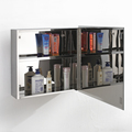 Direct Supply Classic Stainless Steel Bathroom Cabinet with Mirror 7015