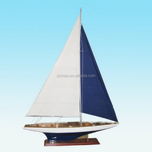 J K4 Yacht Model, 3 sets 138cm length Wooden sailboat model, Americas Cup J Class racing yacht sailing boat vessel replic model