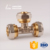 Factory supply compression fittings brass equal tee