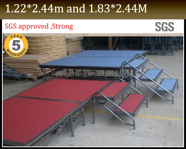 Wholesale Folding Movable Mobile Stage Sale With High Quality JC-P64