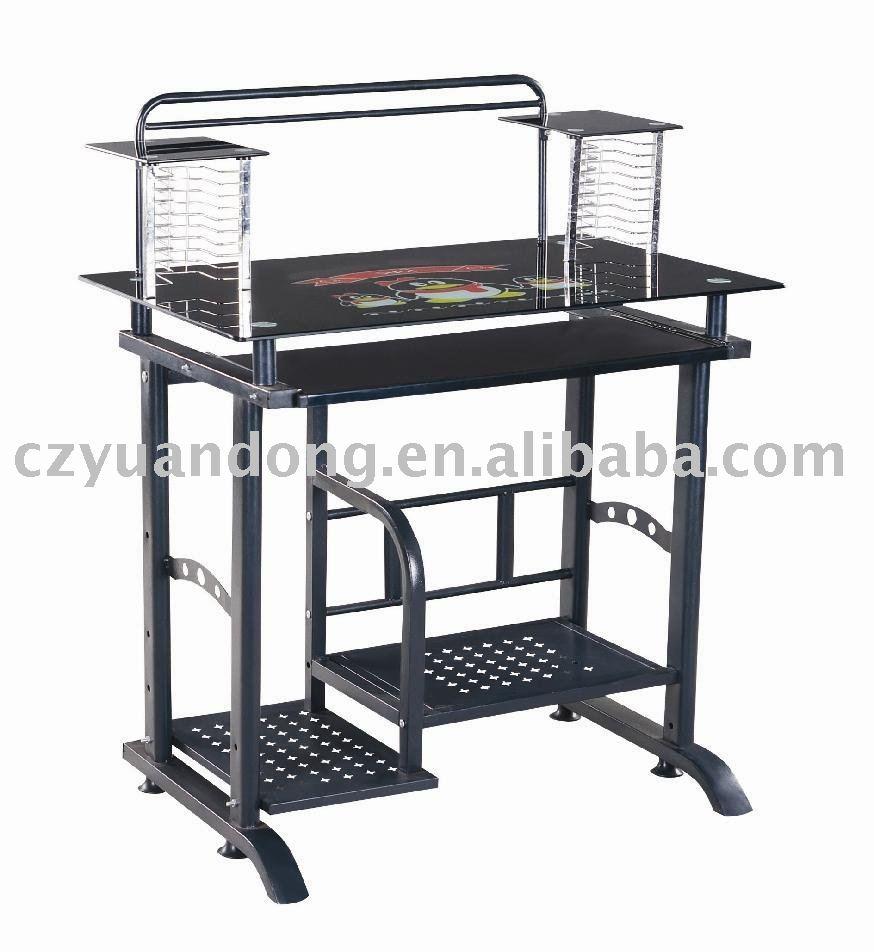Yd 018 mode en verre tremp table d 39 ordinateur tables en verre id de prod - Table ordinateur verre ...