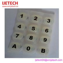 Heat resistant silicone button keypad