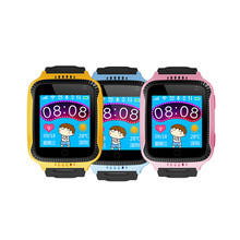 Huiyou best selling 1.54 inch touch screen KW119T kids gps watch phone with camera and led torch