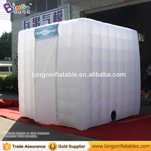 Inflatable Photobooth / Inflatable Cube Camping Tent for Promotion with Light