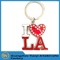 2016 Los Angeles Custom Customized Alphabet Personalized Metal Best Key chains