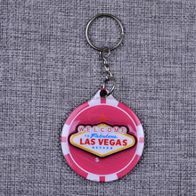 Wood epoxy key ring customized key chain hardware promotional keychains