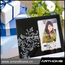 wholesale 4x6 bulk glass picture frames/ black custom photo frame
