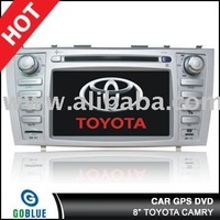 8 inch car dvd player speical for TOYOTA CAMRY with high resolution digital touch screen ,gps ,bluetooth,TV,radio,ipod