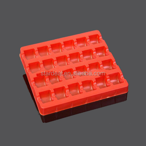 custom red color Different type packaging blister PET disposable plastic chocolate trays